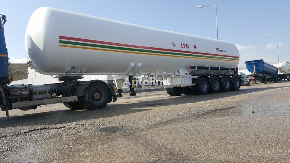 new GURLESENYIL 4 axles lpg semi trailers  gas tank trailer