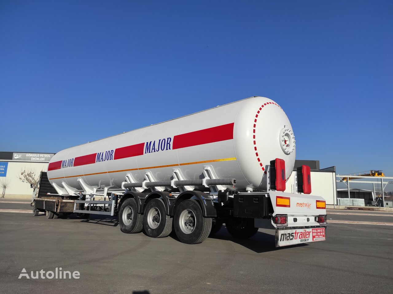 new MAS TRAILER TANKER 3 Axle 57 m3 LPG Tanker Semi Trailer From Factory gas tank trailer