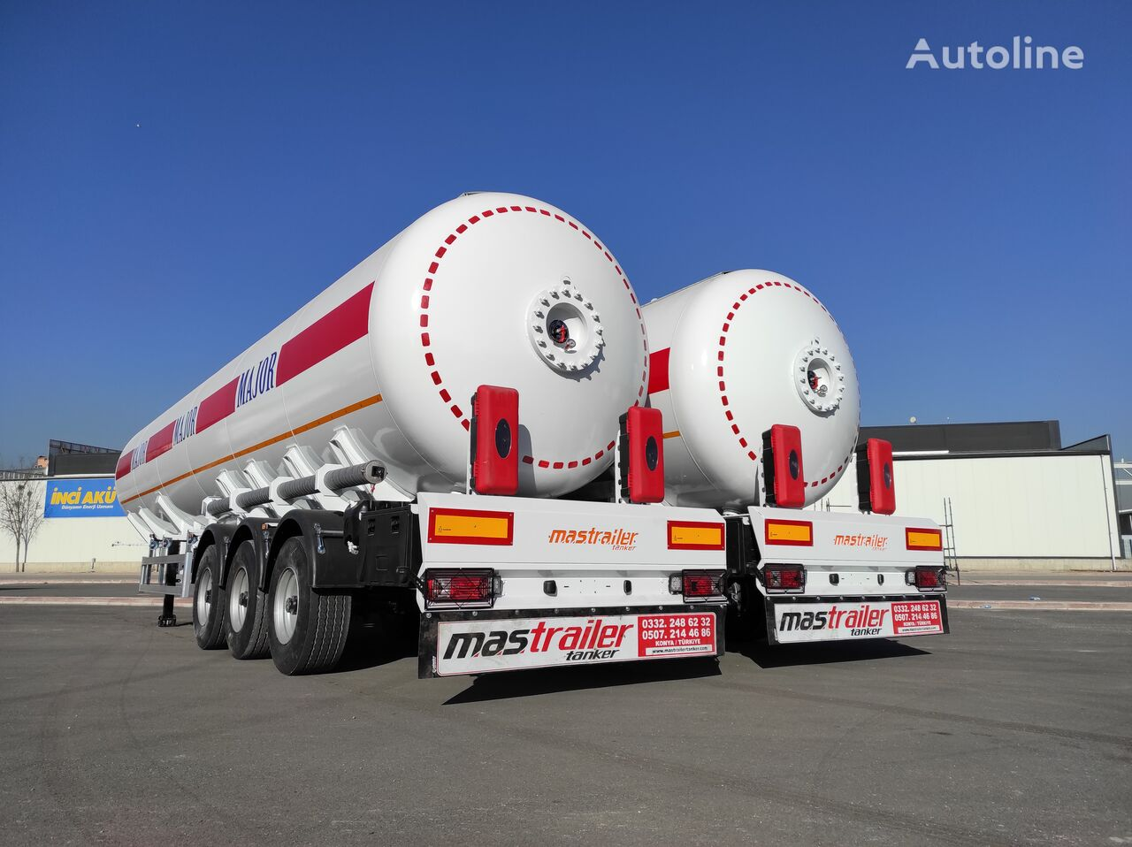 new MAS TRAILER TANKER 3 Axle 57 m3 LPG Tanker Semi Trailer From Manufacturer gas tank trailer
