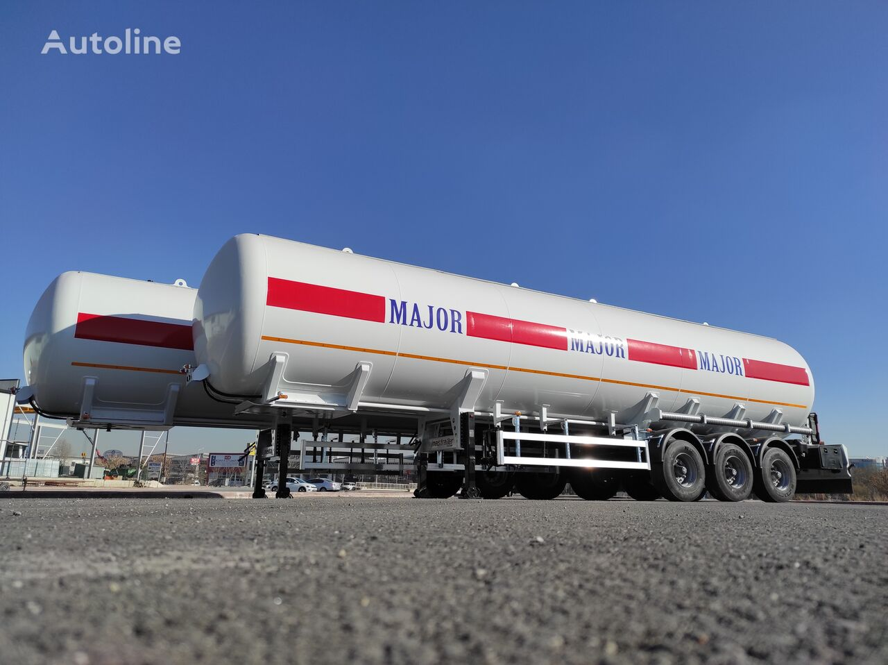 new MAS TRAILER TANKER 57 m3 LPG Tanker Semi Trailer From Manufacturer gas tank trailer