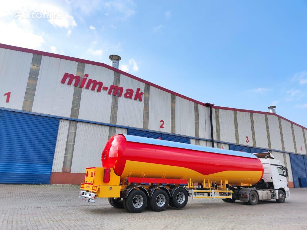new MIM-MAK LPG TRANSPORT TANK 3 DİNGİL MEKANİK SÜSPANSİYON - 45 m³ / 60 m³ gas tank trailer