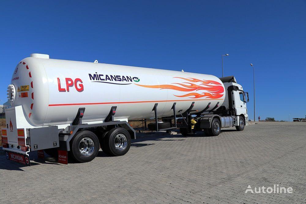 new Micansan 2019 READY FOR SHIPMENT 57 M3 NIGER LPG GAS TANKER SEMITRAIL gas tank trailer