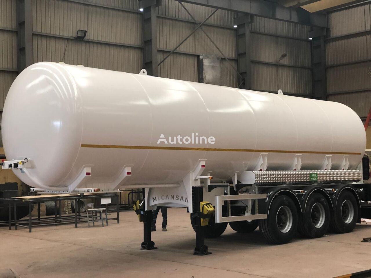 new Micansan 2020 45 m3 excellent product 3 axles 6 tıres  gas tank trailer