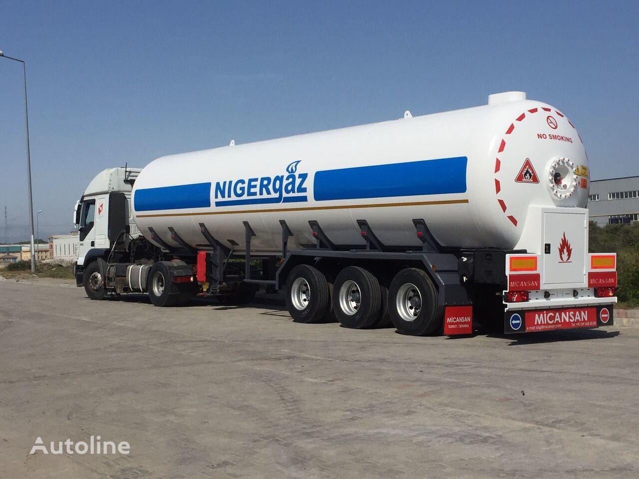 new Micansan 2020 57 M3 2+ 1 AXLES CIF LAGOS / COTONEAU 35.500 EURO gas tank trailer