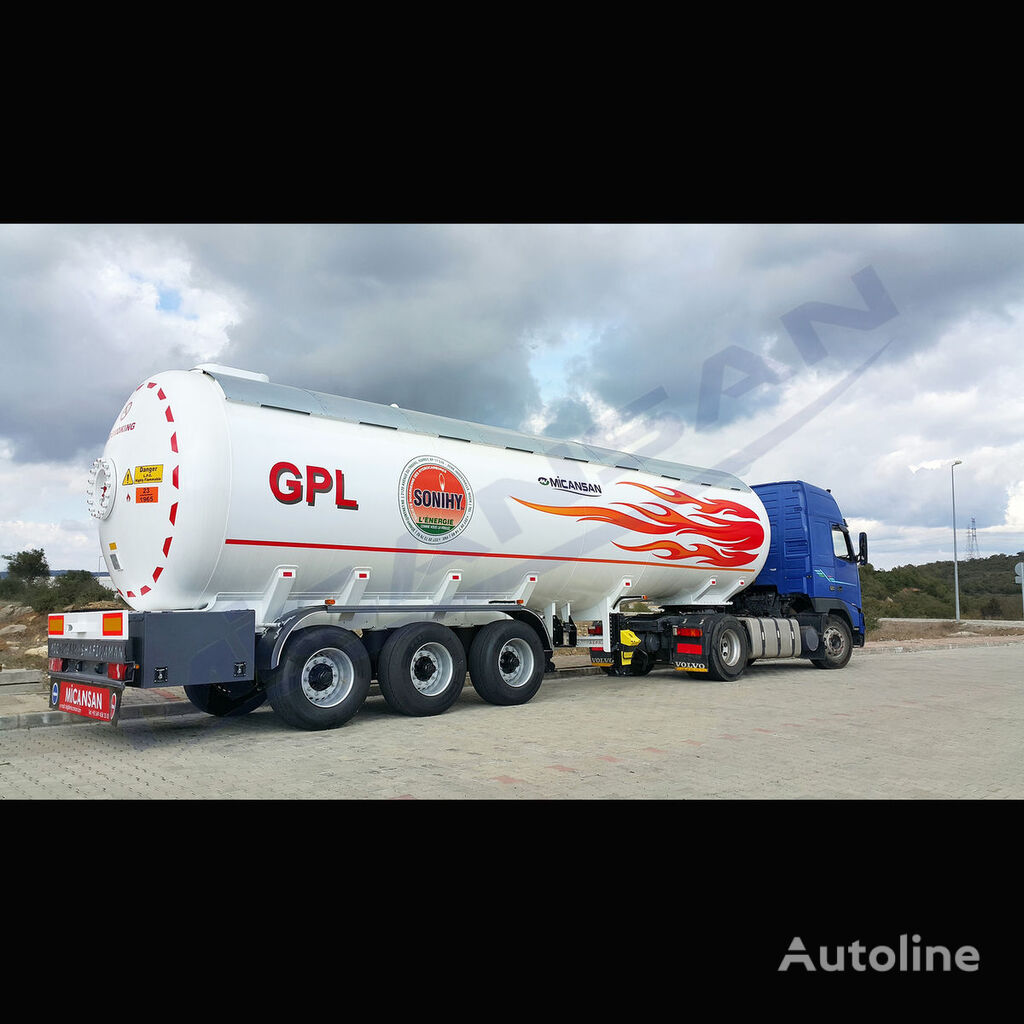 new Micansan BIG DISCOUNT 2019 new product excellent 50 -55 m3 lpg  gas tank trailer