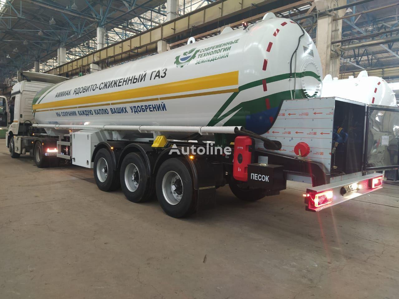 new Cisterna dlya Ammiaka (Ammiakovoz) gas tank trailer