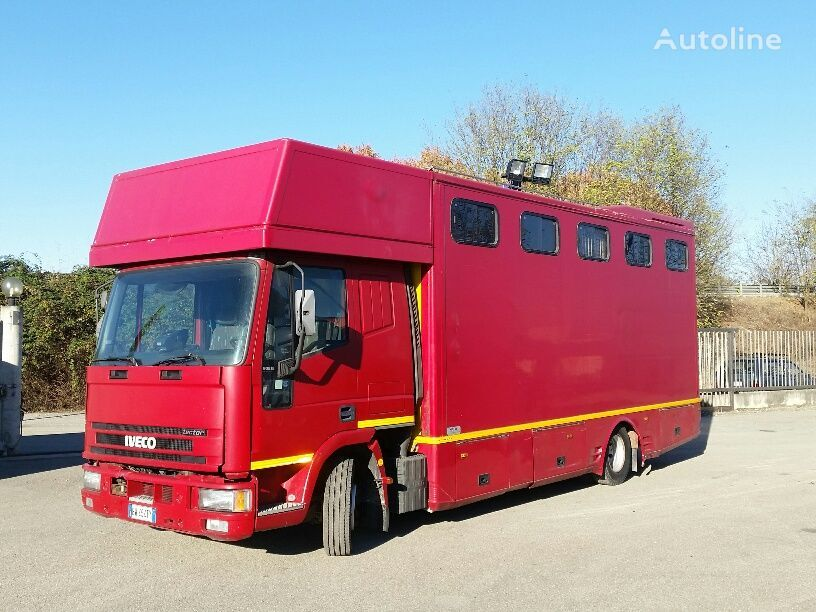 IVECO EUROCARGO 90E18P CAVALLI RAMPA POST+LATERALE horse transporter