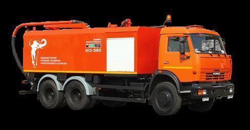 KAMAZ KO-560 combination sewer cleaner