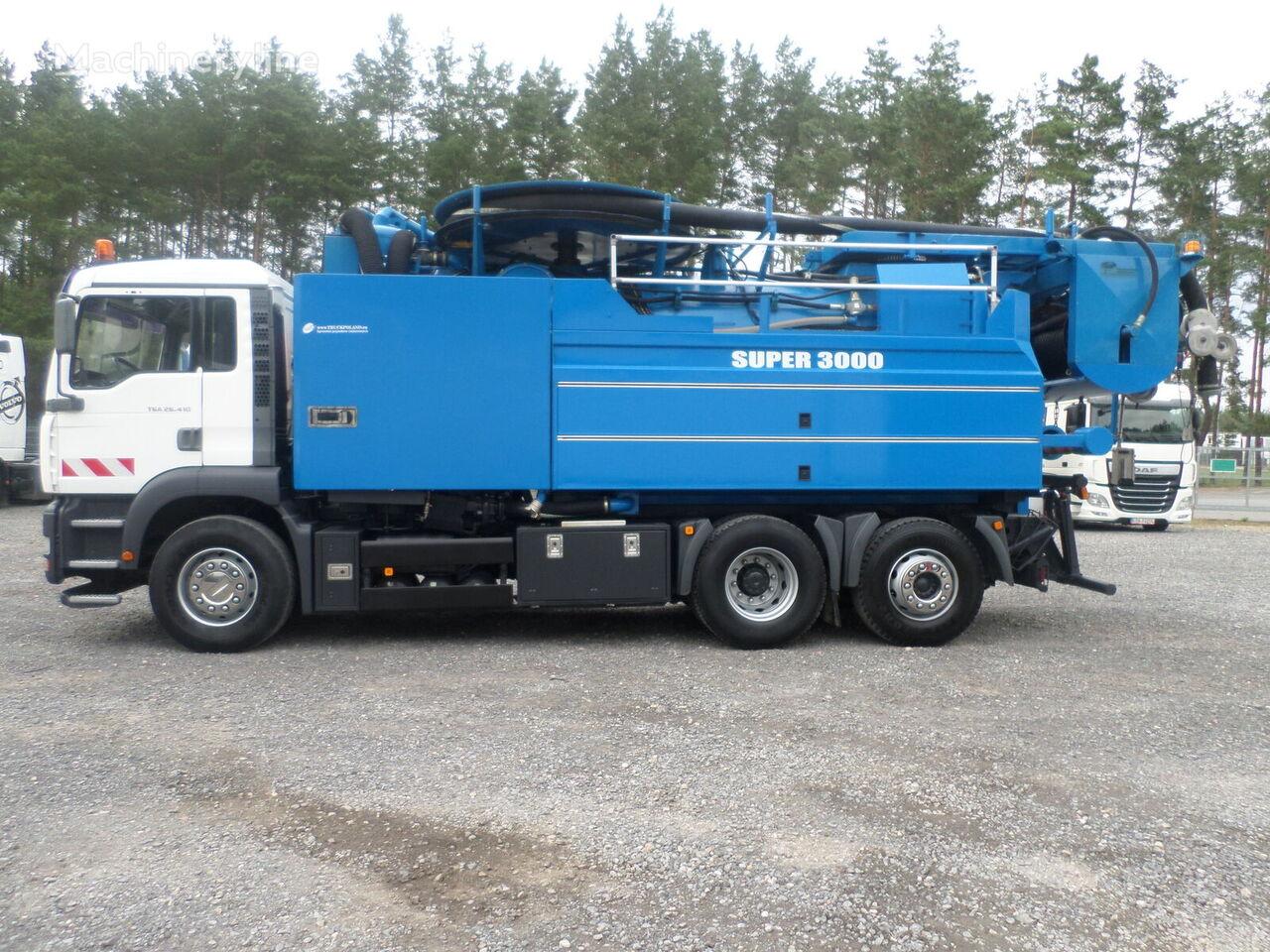 MAN WUKO Wiedemann Super 3000 z recyklingiem PRZEBIEG 53 777 km combination sewer cleaner