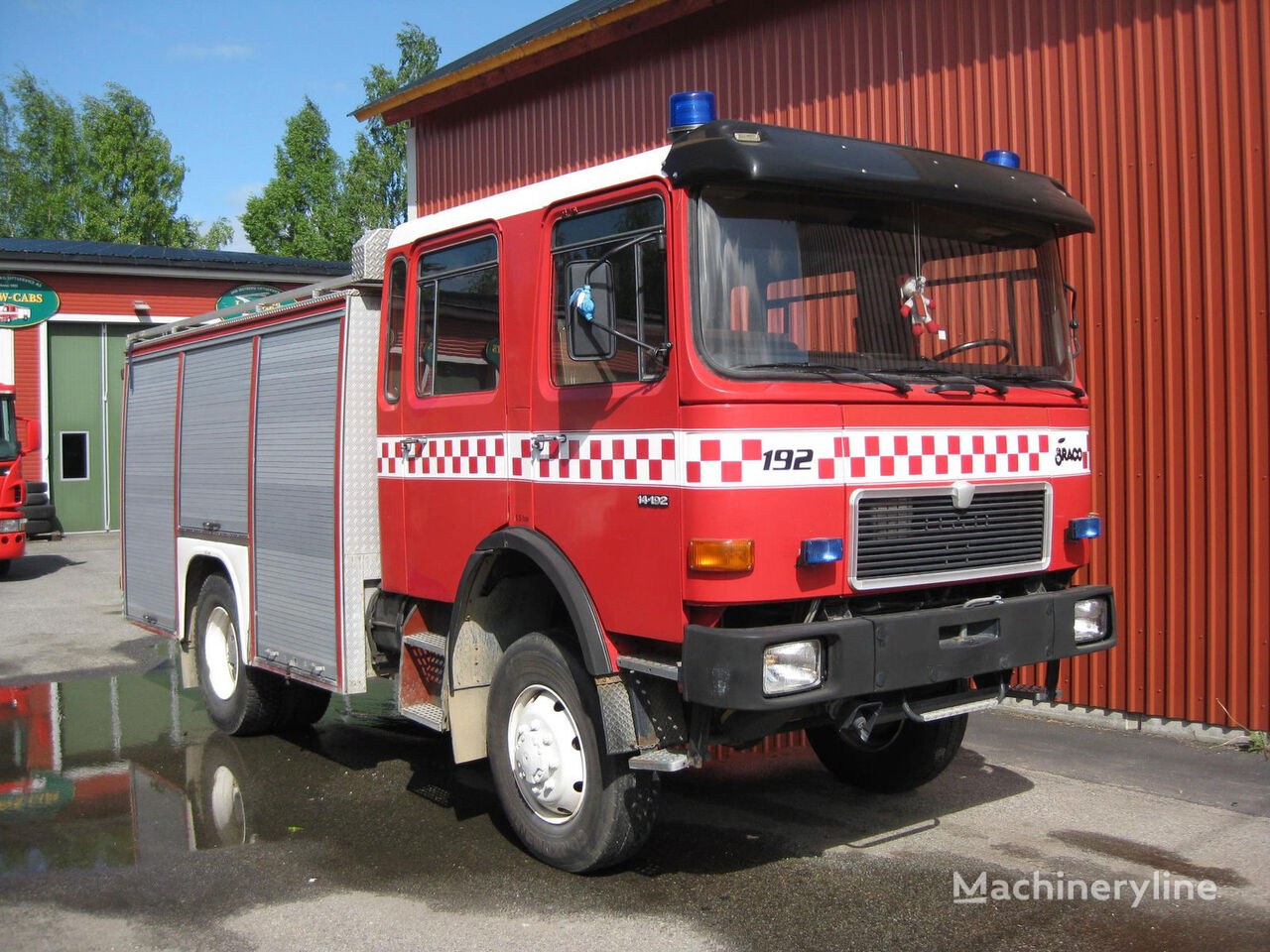 MAN 14-192, 4x4 WD fire truck