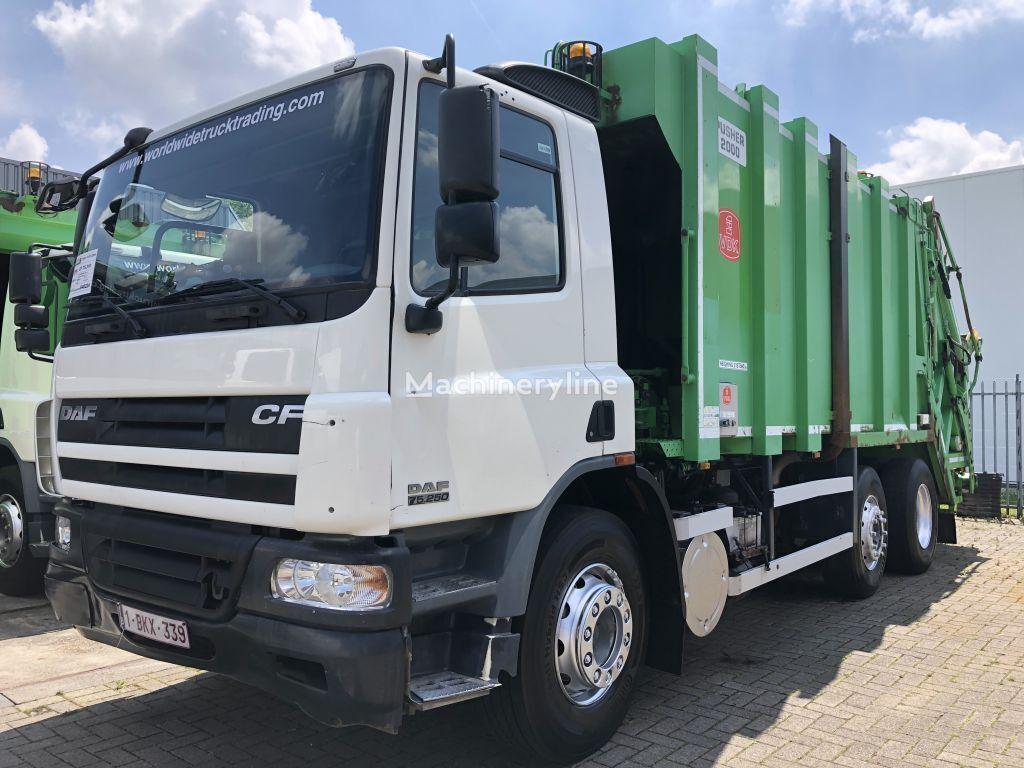 DAF CF 75 310 + 6X2 + VDK PUSHER 2000 GARBAGE SYSTEM + WEIGHTSYSTEM garbage truck