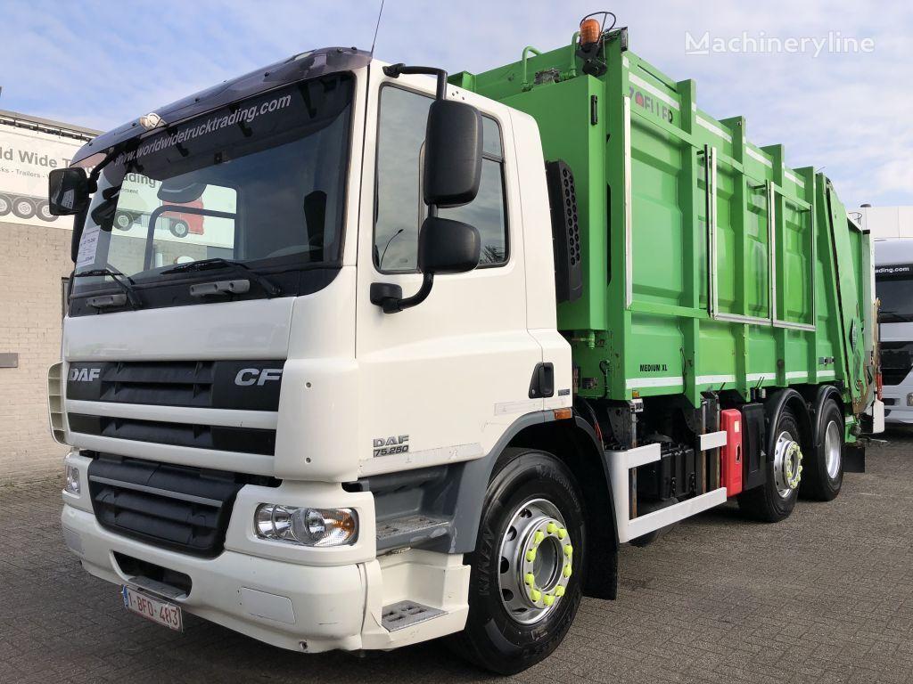 DAF CF75 250 + ZOELLER GARBAGE SYSTEM + EURO 5 + 6X2 + TUV/APK + 6 P garbage truck