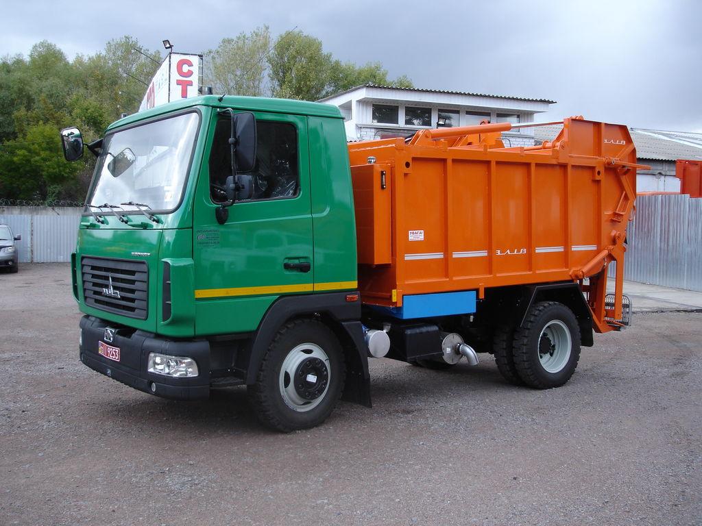 new MAZ VLIV MIKRO garbage truck