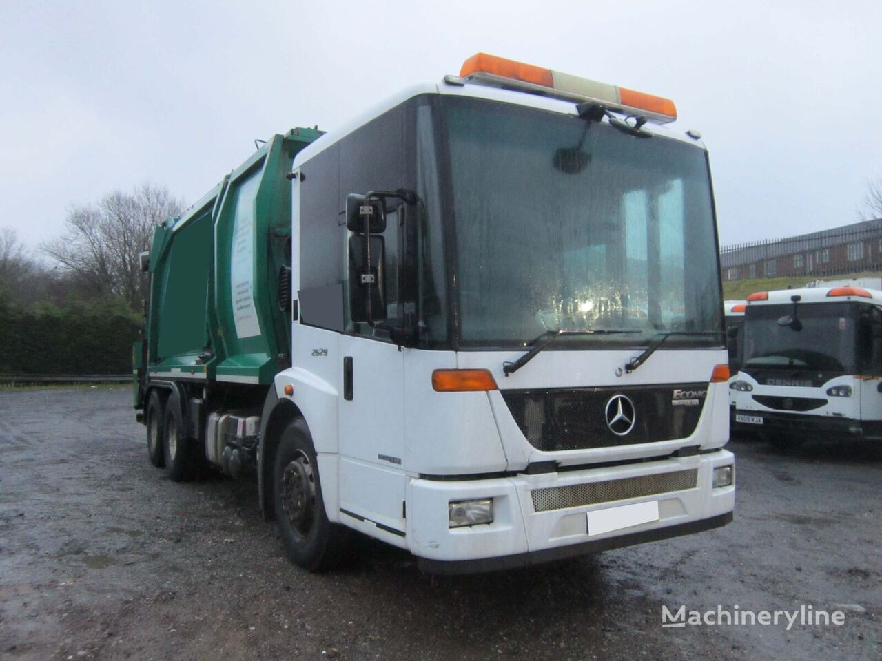 MERCEDES-BENZ ECONIC 2629 6X2 26TON GEESINK NORBA BODY AUTO REFUSE RECYCLER  garbage truck