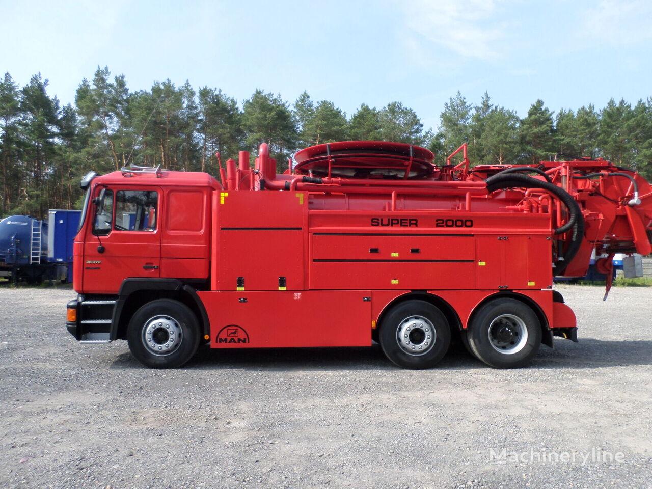 MAN 26.372 6x2 WUKO Wiedemann & Reichhardt Super 2000 Recycling sewer jetter truck