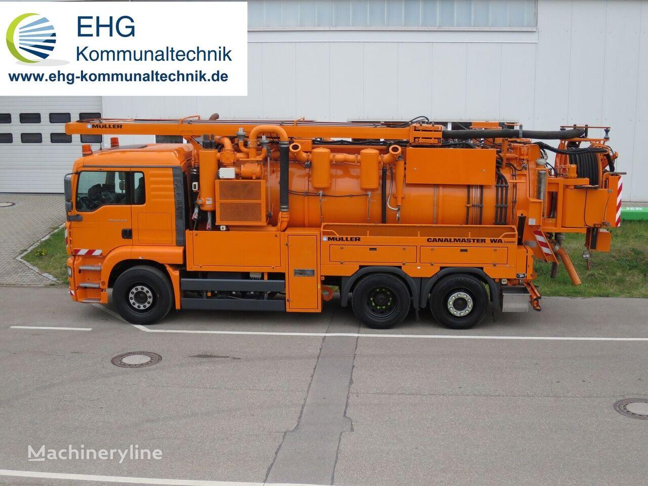 MAN TGA03 26.410 FNCL Müller Canalmaster Economic sewer jetter truck