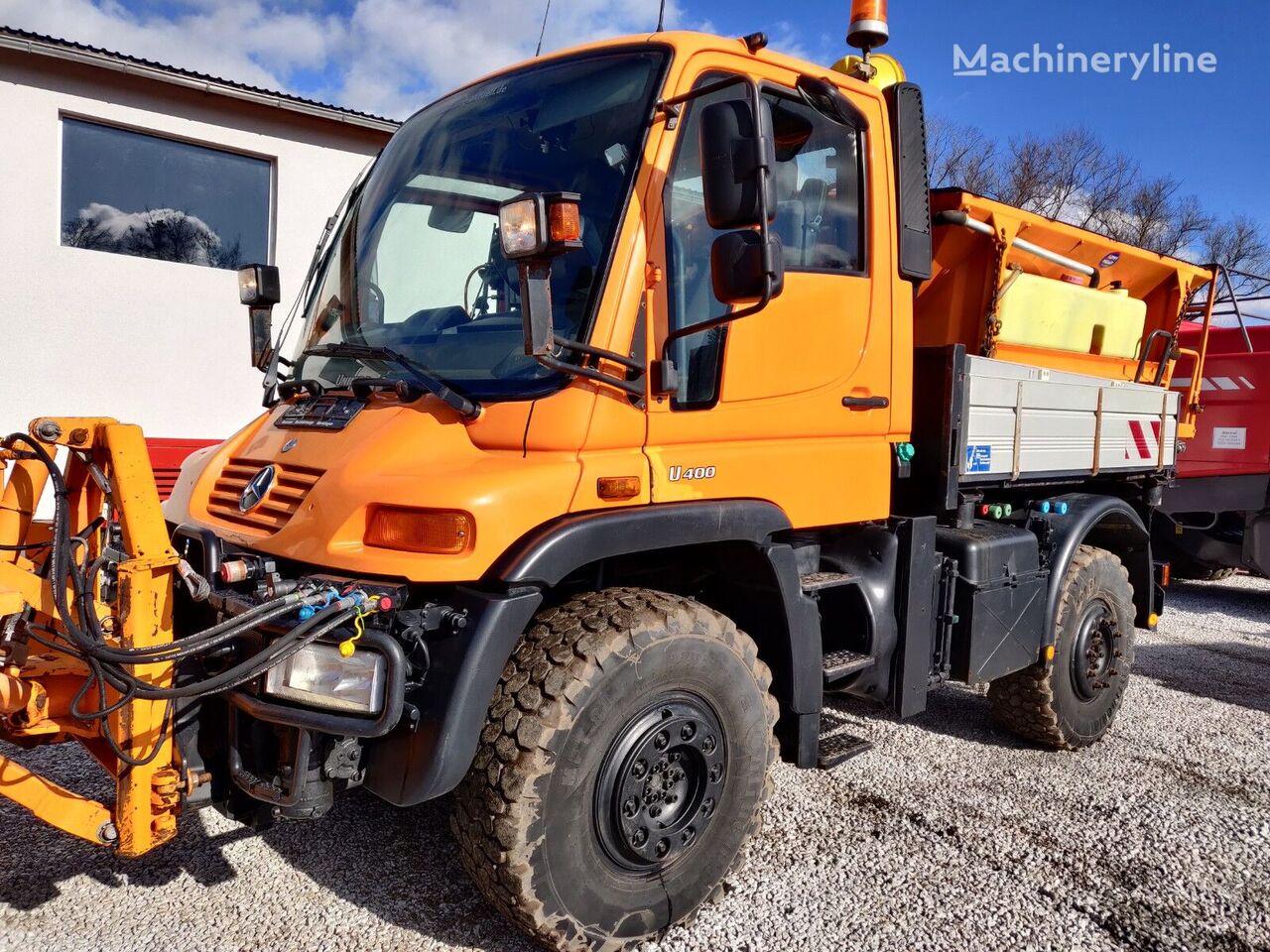 MERCEDES-BENZ  Unimog U400 Vario Hydrostatantrieb Winterdienst snow removal machine