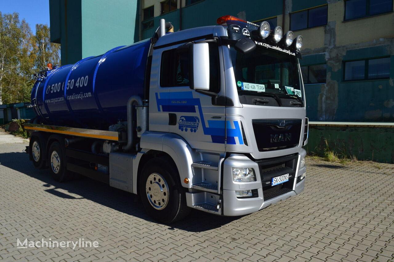MAN TGS 26.480 6x2 EURO 6 18m3 lenkachse neu aufbau vacuum truck