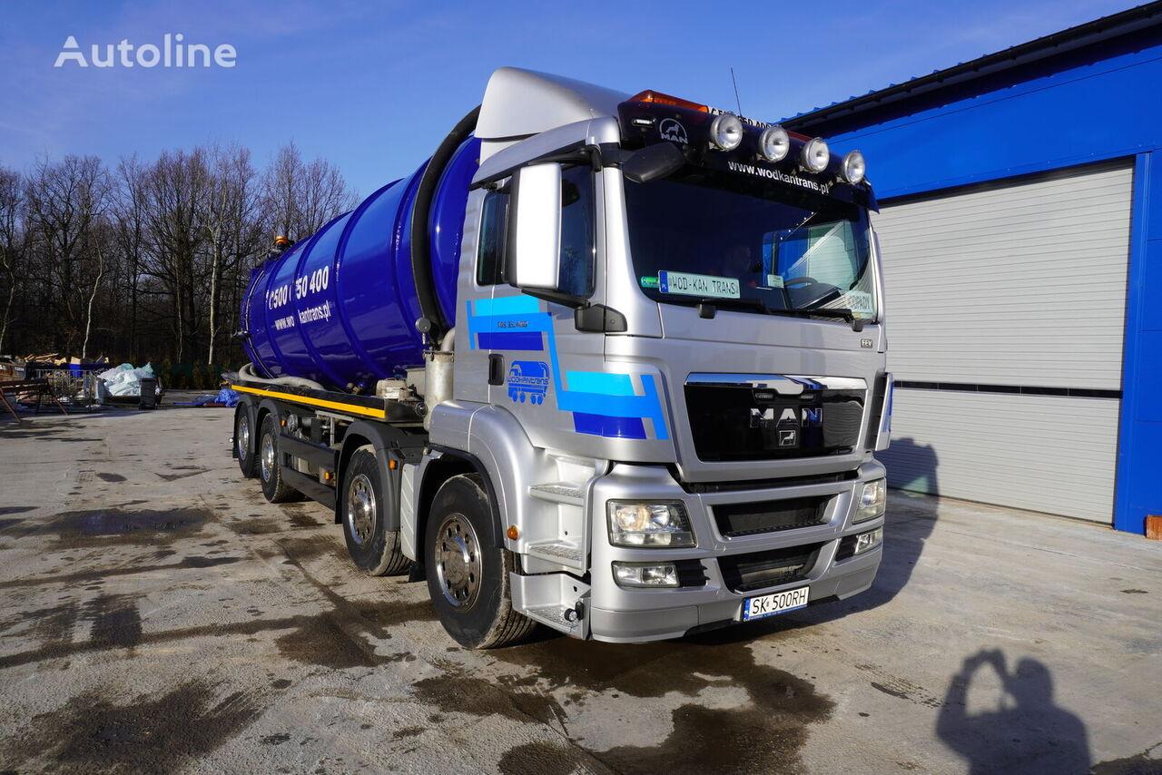 MAN TGS 35.400 EEV 8x2 26m3 kipper lenkachse neu aufbau E5 Adblue vacuum truck