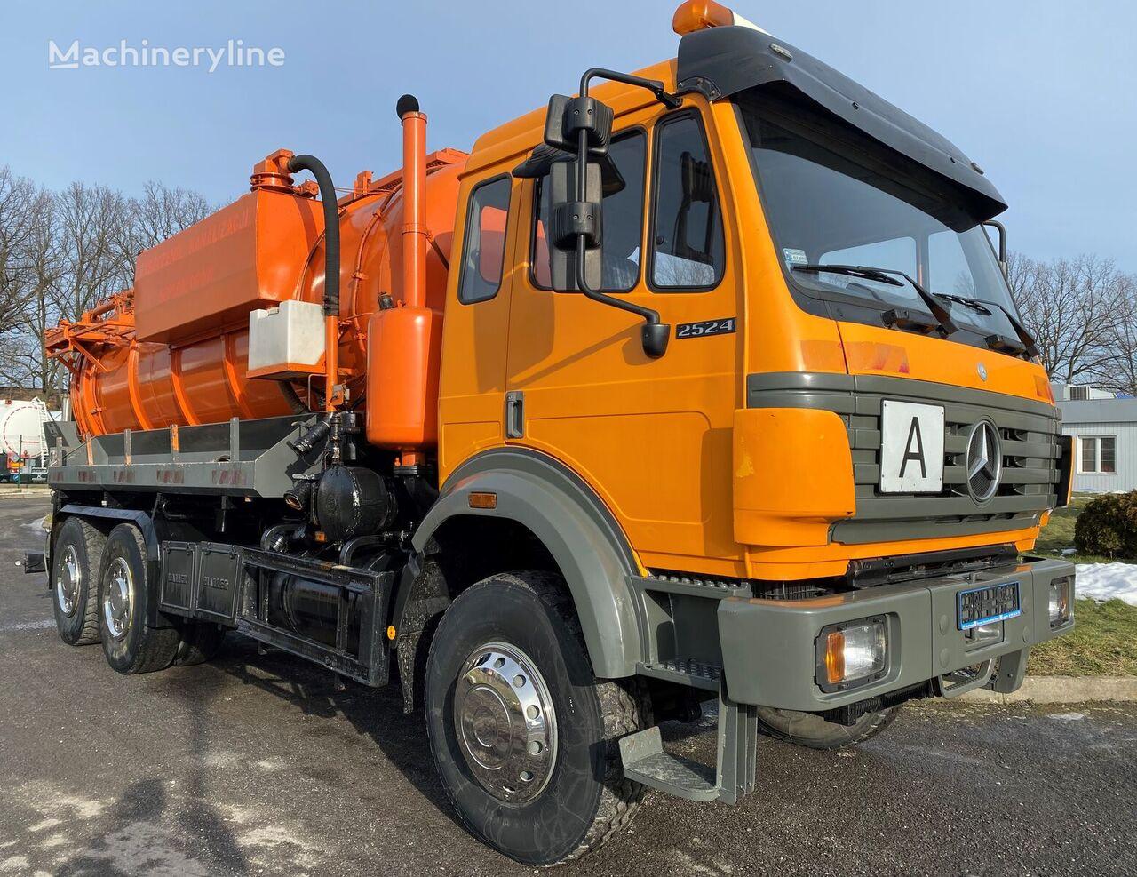 MERCEDES-BENZ 2524 6x4 Haller Kanalspüler vacuum truck