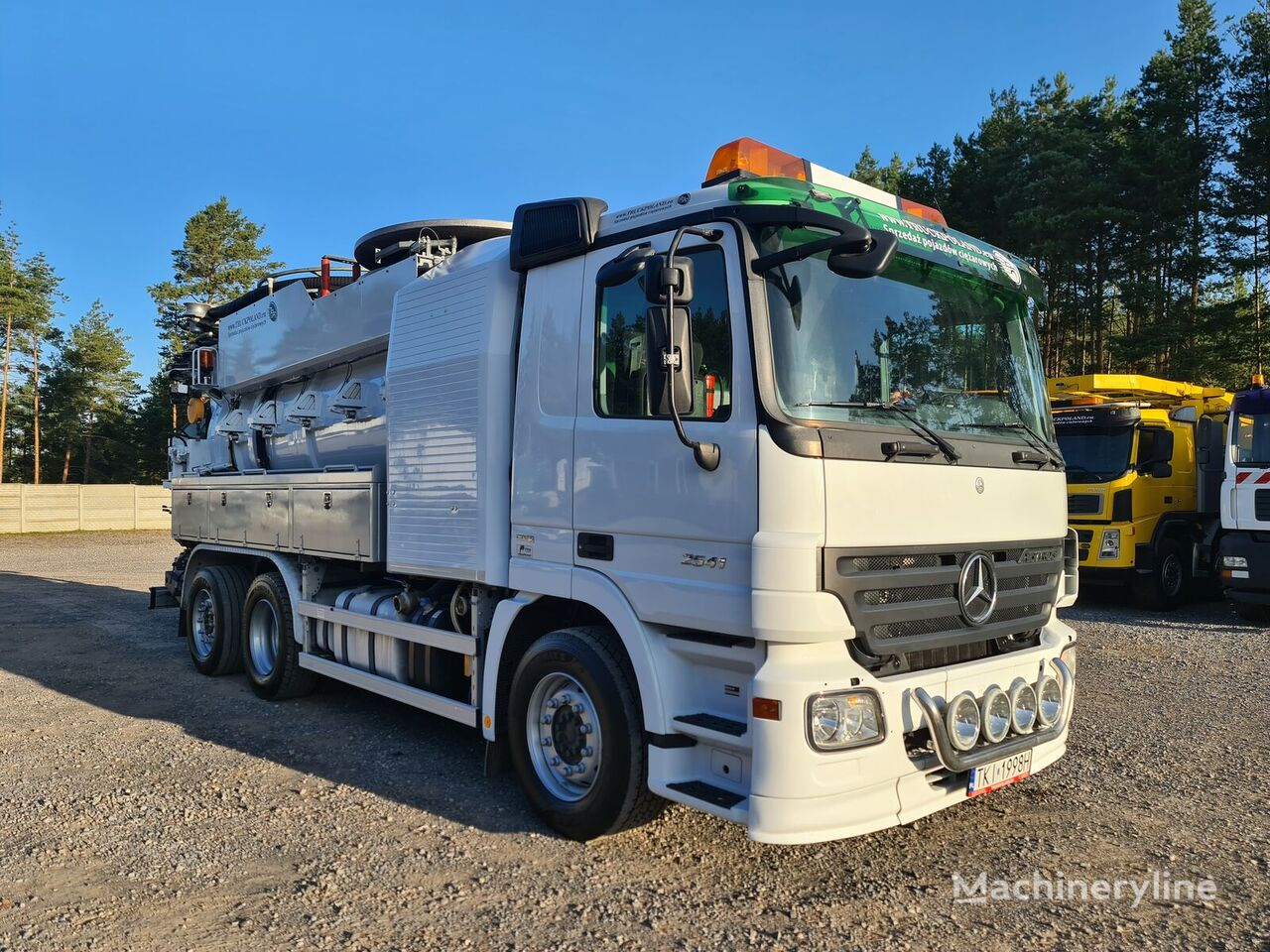 MERCEDES-BENZ 2541 WUKO FFG ELEPHANT 6x2 DO CZYSZCZENIA KANAŁÓW vacuum truck