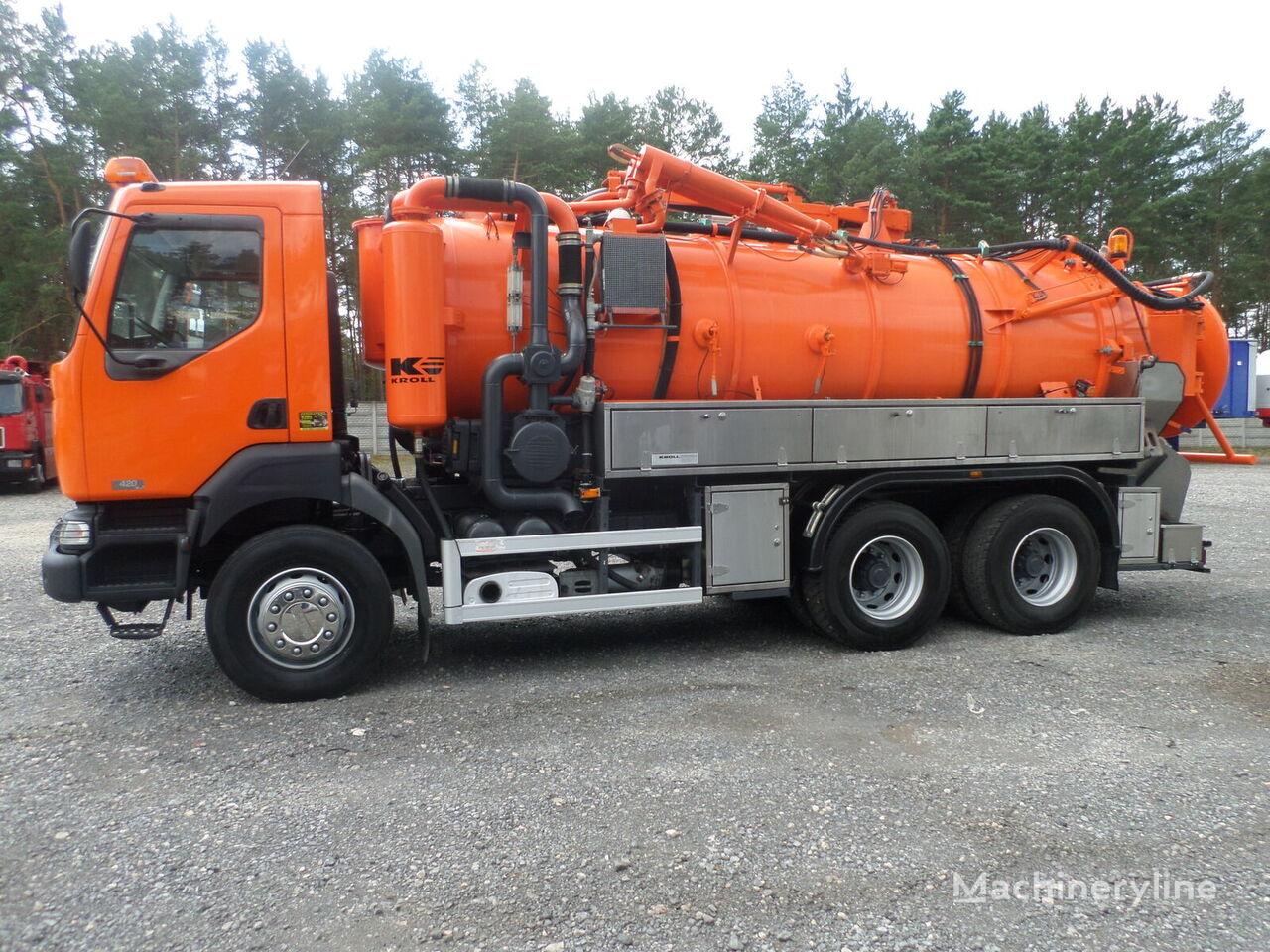 RENAULT KERAX 6x4 KROLL WUKO Water recycling vacuum truck
