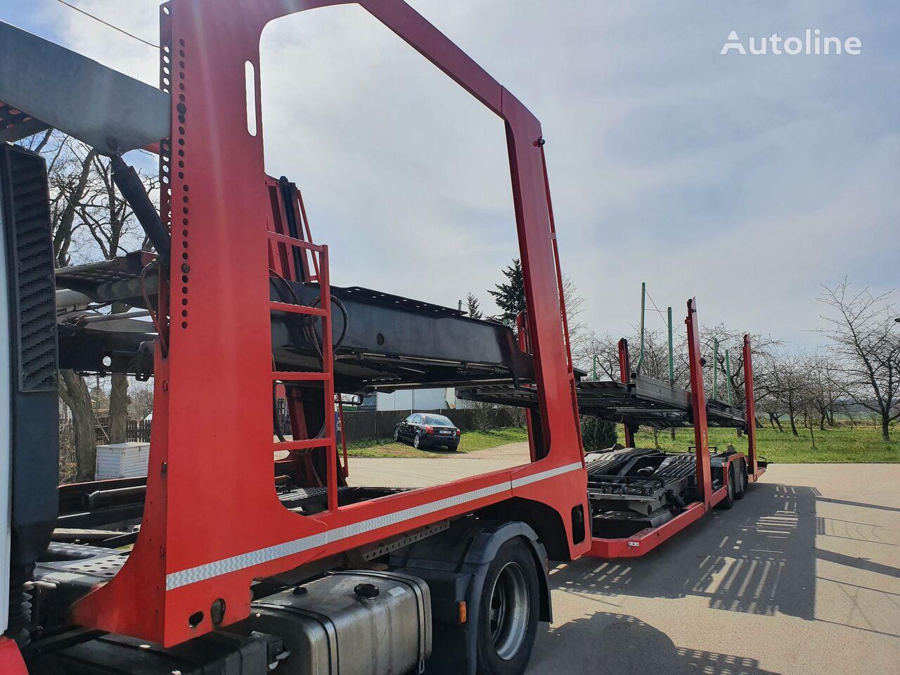 damaged LOHR Eurolohr 1.21 car transporter semi-trailer