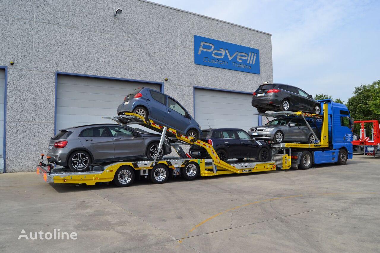 new PAVELLI STV SPINDLE car transporter semi-trailer