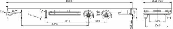 new MAZ 931010-1020 chassis semi-trailer