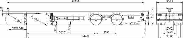 new MAZ 938660-1012 chassis semi-trailer