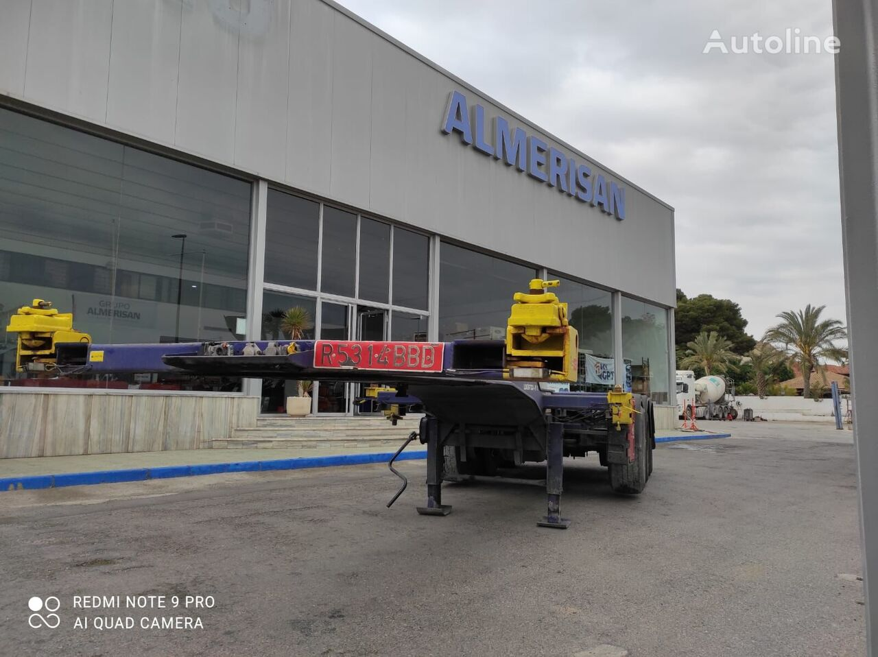 PRIM-BALL S3E. SEMIRREMOLQUE PORTA-CONTENEDORES EXTENSIBLE. COLOR AZUL chassis semi-trailer