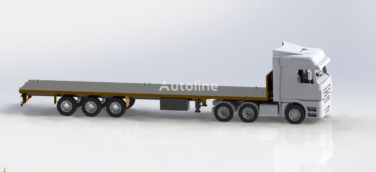 new STAR TRAILER ST2021 FLATBED, CONTAINER CARRIER, SAL DORSE chassis semi-trailer