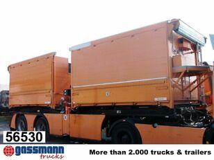 HÜFFERMANN DK AHL mit Kran Atlas 130.1-8,2/2 A 2 closed box semi-trailer