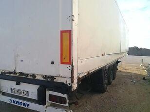 damaged KRONE SDK270 closed box semi-trailer