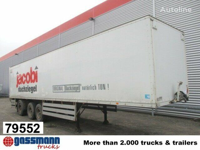 KÖGEL SAnh SF 24 Kofferauflieger, gelenkte Achse, Rolltor closed box semi-trailer