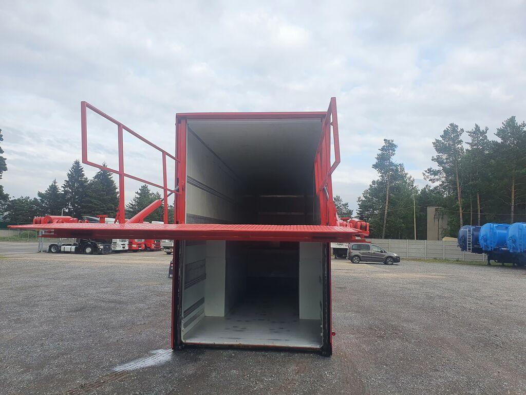 LANGENDORF 2010 PODWÓJNY ZAŁADUNEK DO KOSMETYKÓW MOTORÓW Flexliner Inloader closed box semi-trailer