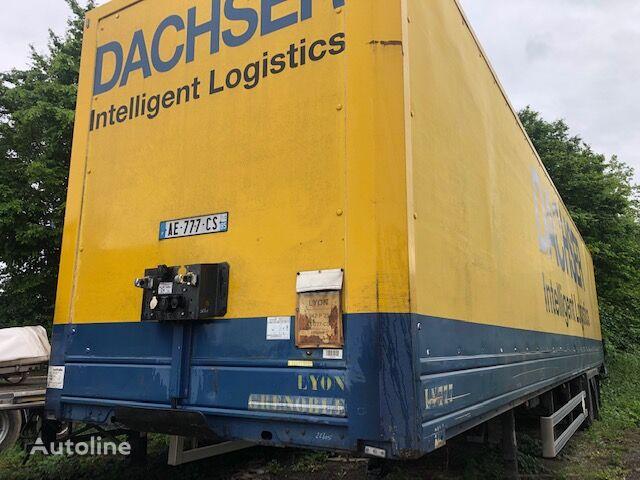 LECI TRAILER Semi Fourgon 2 essieux Mercedes closed box semi-trailer