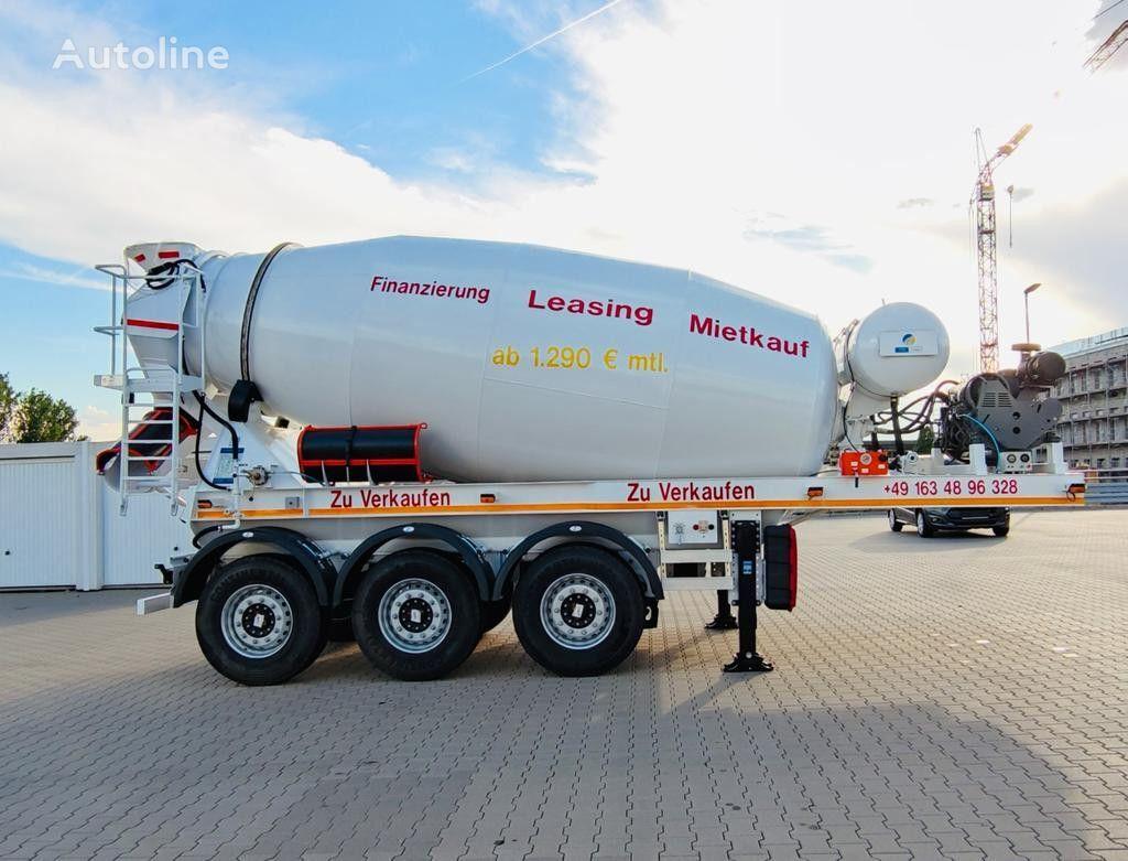 new concrete mixer semi-trailer
