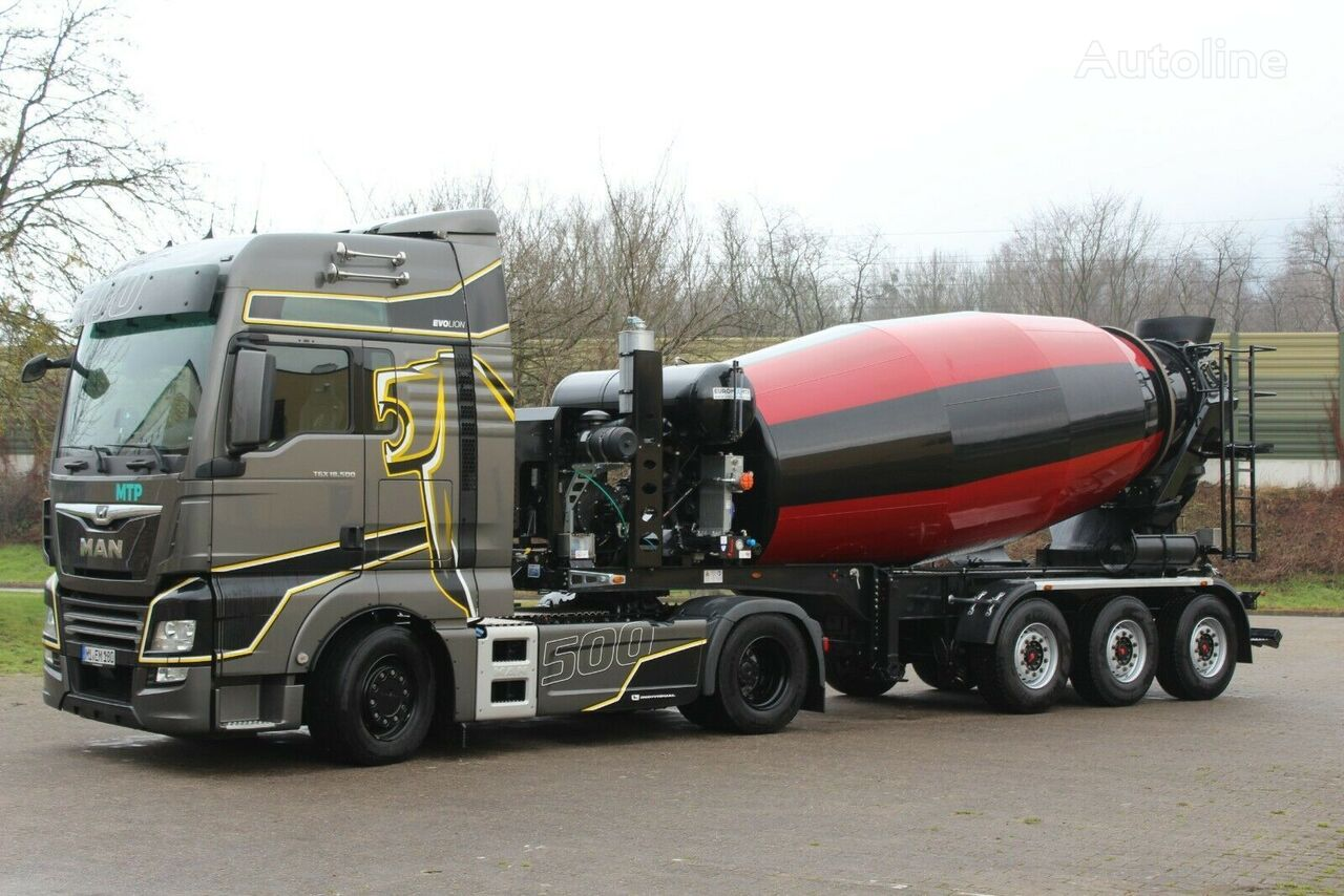new concrete mixer semi-trailer