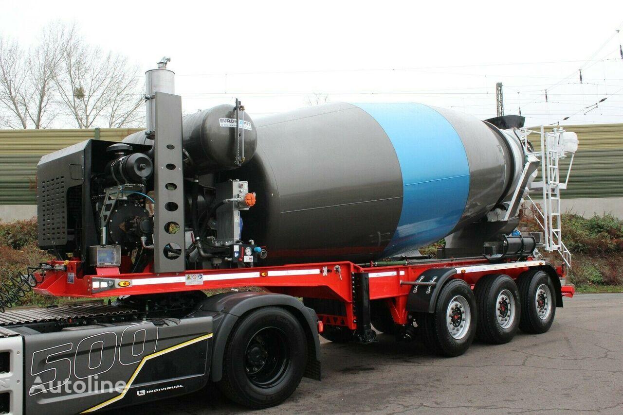new MTP EM 12 R concrete mixer semi-trailer