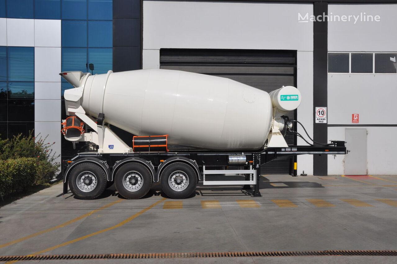 new OKT TRAILER 3 AXLE MIXER SEMI TRAILER concrete mixer semi-trailer