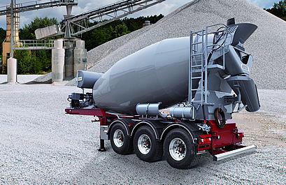 new PUTZMEISTER P12DS, IMI 12.1 concrete mixer semi-trailer