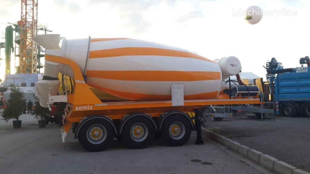 new SEMIX concrete mixer semi-trailer