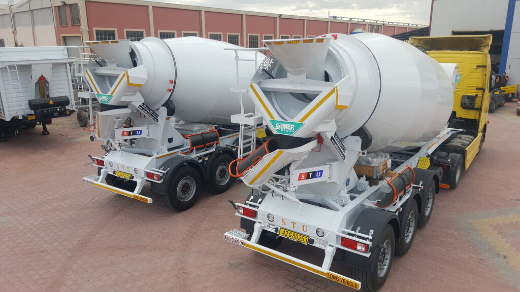 new STU 12.7 CBM MIXER TRAILER concrete mixer semi-trailer