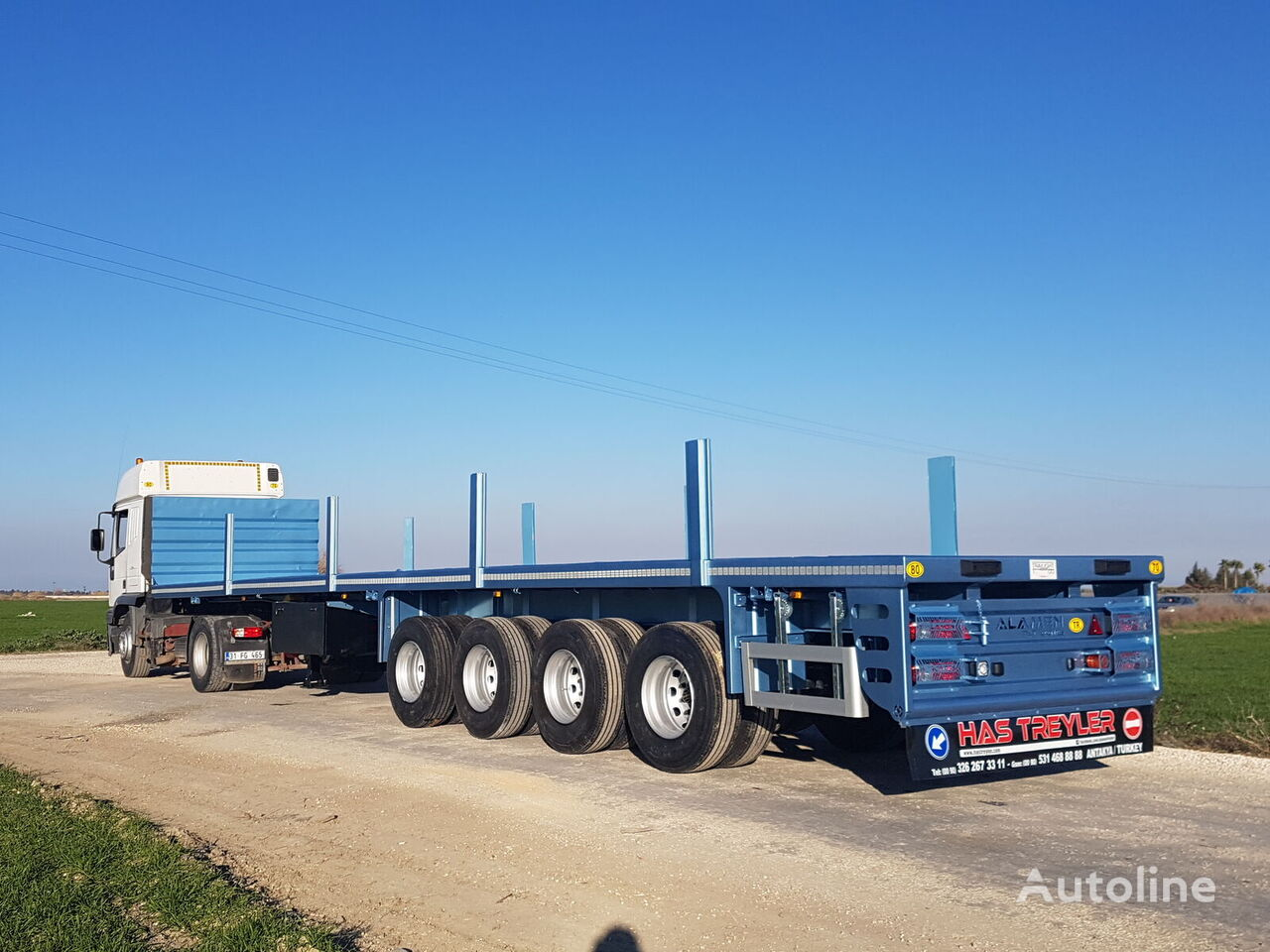 new ALAMEN Flatbed Semi Trailer for sale (from Manufacturer Company) container chassis semi-trailer