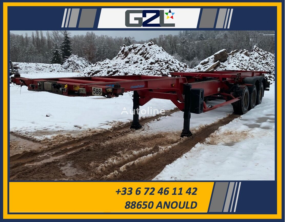 damaged ASCA 38SG1 *ACCIDENTE*DAMAGED*UNFALL* container chassis semi-trailer