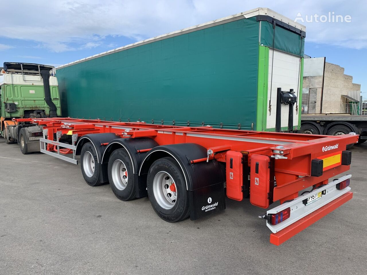new GRUNWALD GSC03 HD container chassis semi-trailer