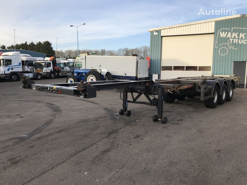 KROMHOUT DRUM 2 X EXTANDABLE container chassis semi-trailer
