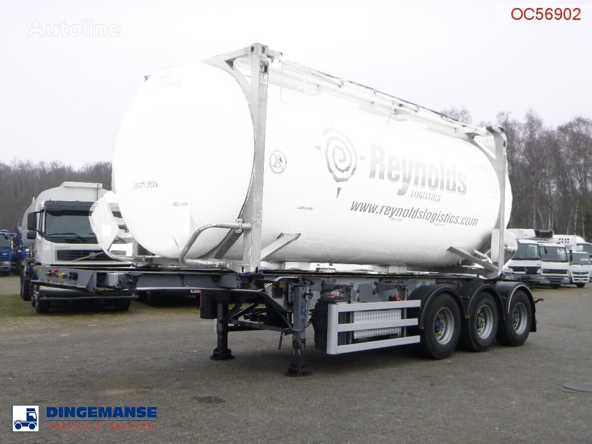 SDC 3-axle container trailer 20-30 ft + pump container chassis semi-trailer