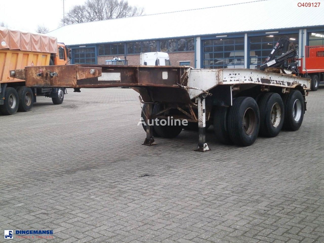 Traylona 3-axle dolly trailer / 62000 kg container chassis semi-trailer